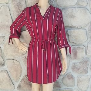 Indulge in Style Vertical Striped Dress